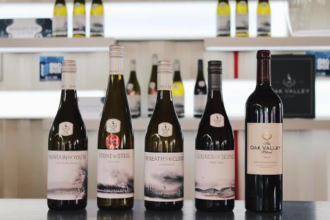 541deb9dd6484831a2d570ff5081649amountain_bike_adventure_wine_wine_tasting_tour_bottles_oak_valley_estate_close_up
