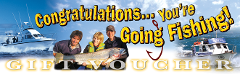 Gift Voucher - Half  Day Fishing Package 5hrs early morning or mid morning.