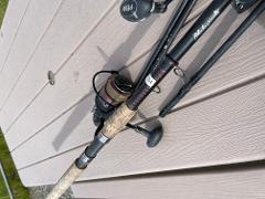 Fishing Pkg: Salmon Rod Reel Combo/Chestwaders Breathable with wading boots (1 Person)