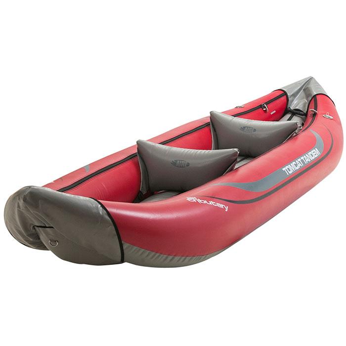 Kayak Inflatable Tandem Tomcat Tributary  includes paddles, pfds, bilge pump