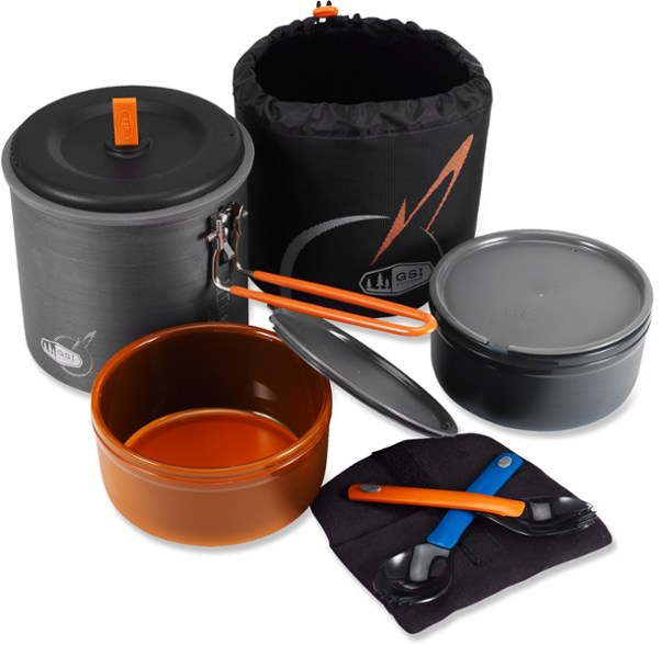 Pot -GSI Dualist - 2 People Backpacker - Pot/Bowls/Cups/Sporks
