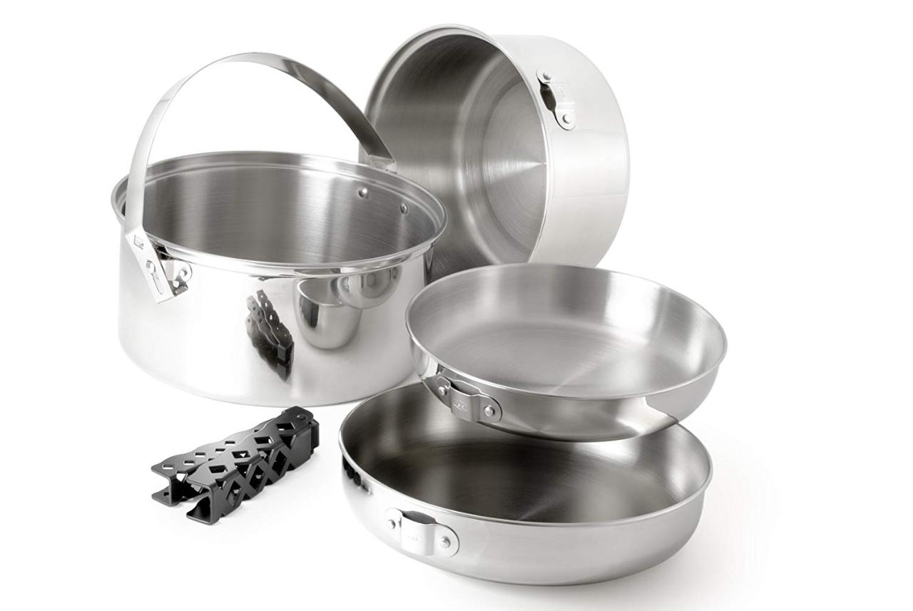 Pot /Pan Stainless Set - Medium (2 Pot/2 Pans)