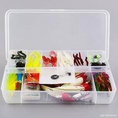 Tackle Pack Salmon- Plano box., hooks, flies, beads, yarn, weights, swivels