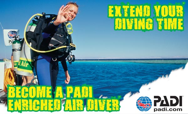 ADD ON - PADI Enriched Air Diver Course