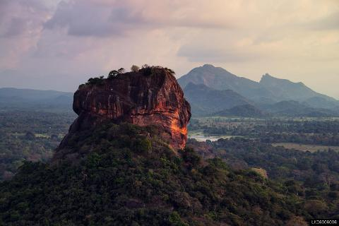 Sigiriya Rock and Minneriya from Kandy