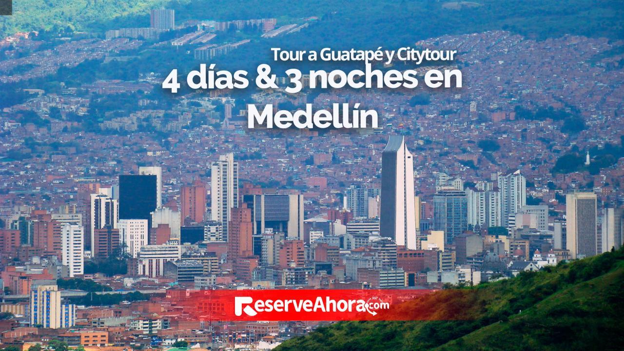 4 días & 3 noches EcoHub Hotel Medellín - Tour Guatapé y Citytour