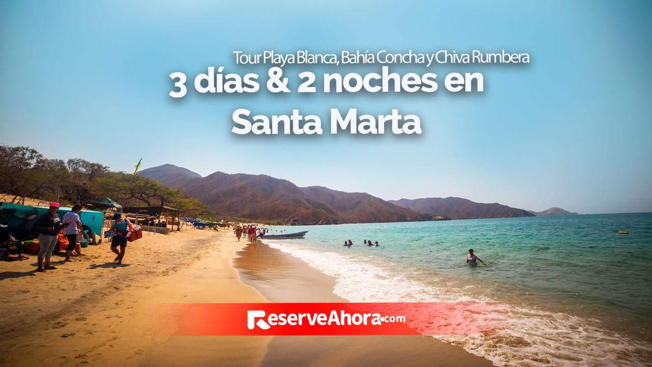 3 días & 2 noches en Hotel Taybo Beach - Tour Playa Blanca, Bahía Concha y Chiva Rumbera