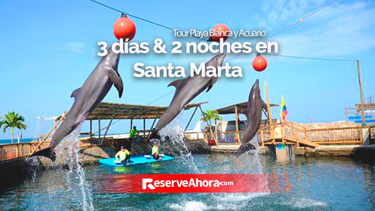 3 días & 2 noches en Hotel Portobahía - Tour Playa Blanca y Acuario.