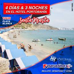 BÁSICO 4 días & 3 noches en Hotel Porto Bahía - Tour playa blanca - Traslados