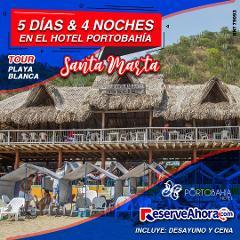 BÁSICO 5 días & 4 noches en Hotel Portobahía - Tour Playa Blanca - Traslados