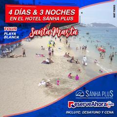 BASICO 4 días & 3 noches en Hotel Sánha Plus - Tour Playa Blanca - Traslados