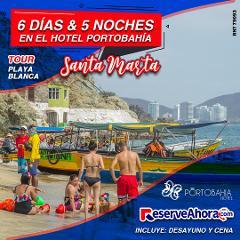 BÁSICO 6 días & 5 noches en Hotel Porto Bahía - Tour playa blanca - Traslados