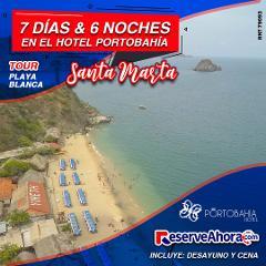 BÁSICO 7 días & 6 noches en Hotel Porto Bahía - Tour Playa Blanca - Traslados