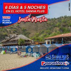 BÁSICO 6 días & 5 noches en Hotel Sánha Plus - Tour Playa Blanca - Traslados