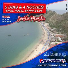 BASICO 5 días & 4 noches en Hotel Sánha Plus - Tour Playa Blanca - Traslados