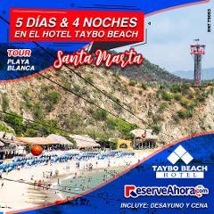 BÁSICO 5 días & 4 noches en Hotel Taybo Beach - Tour a Playa Blanca