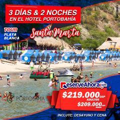 BÁSICO 3 días & 2 noches en Hotel Porto Bahía - Tour playa blanca - Traslados