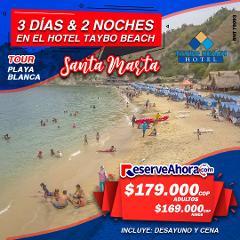 BÁSICO 3 días & 2 noches en Hotel Taybo Beach - Tour a Playa Blanca
