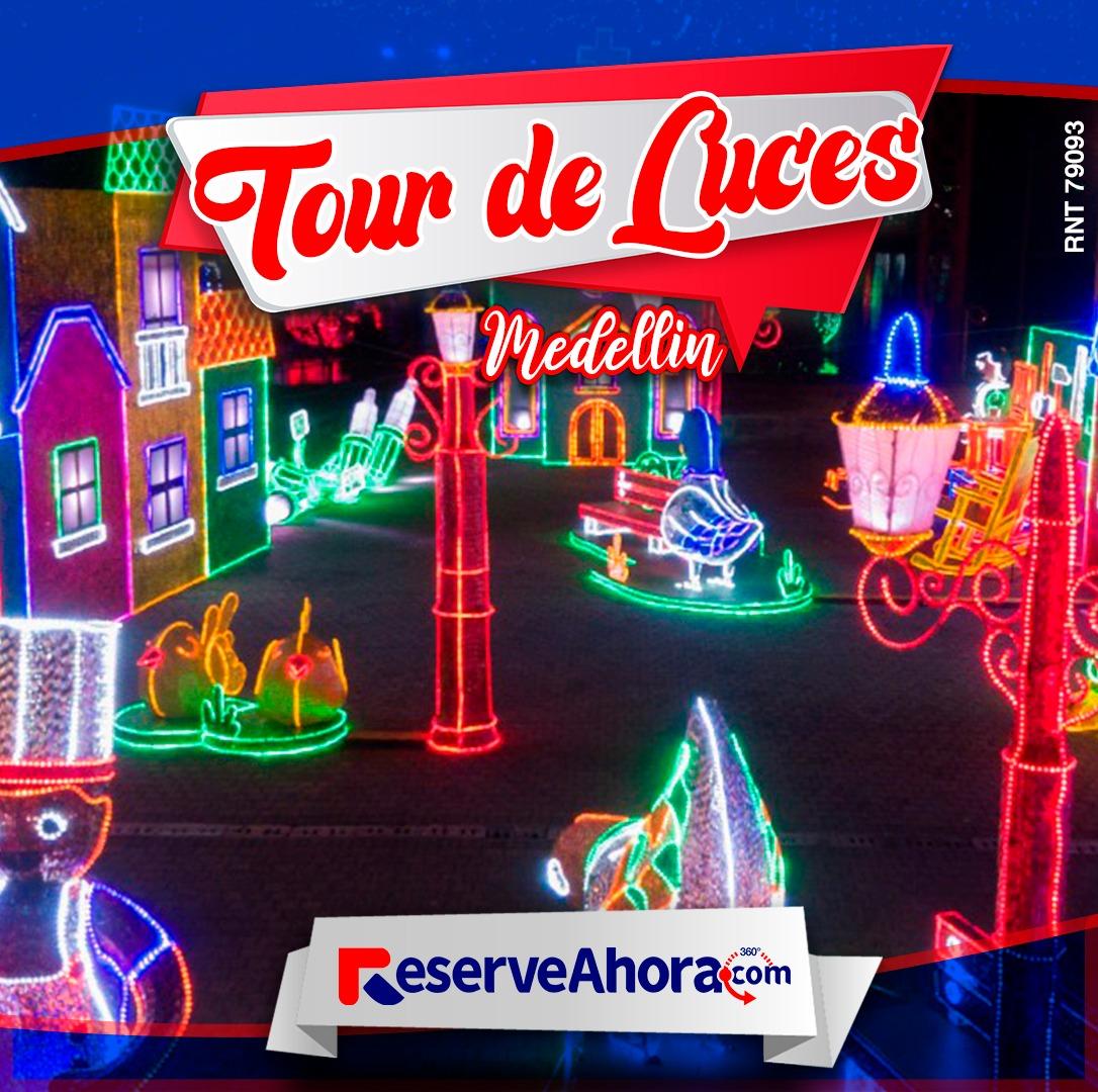 Tour de luces en Medellín