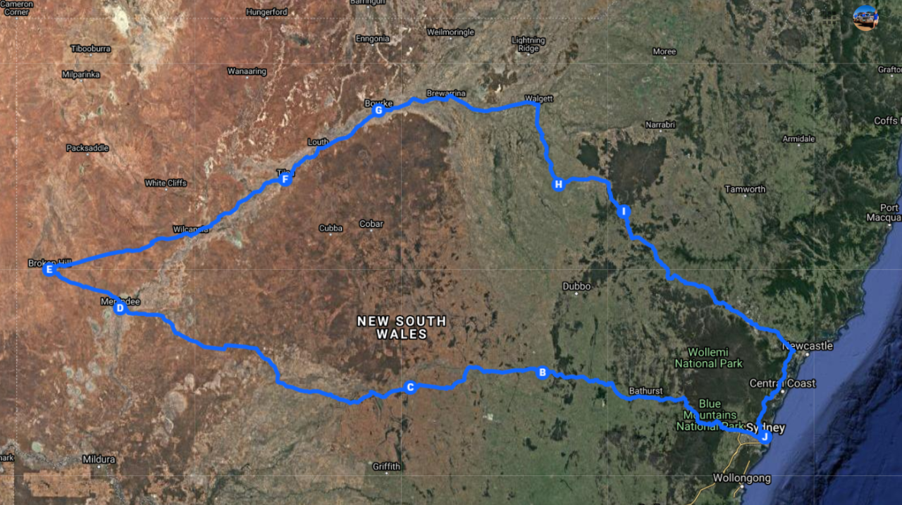 7 Days Broken Hill Tibooburra White Cliffs Bourke Darling River Macquarie Marshes NSW Outback