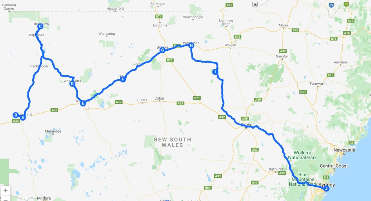 Corner Country Broken Hill to Sydney Tibooburra Bourke Darling River Macquarie Marshes Outback NSW 5 days