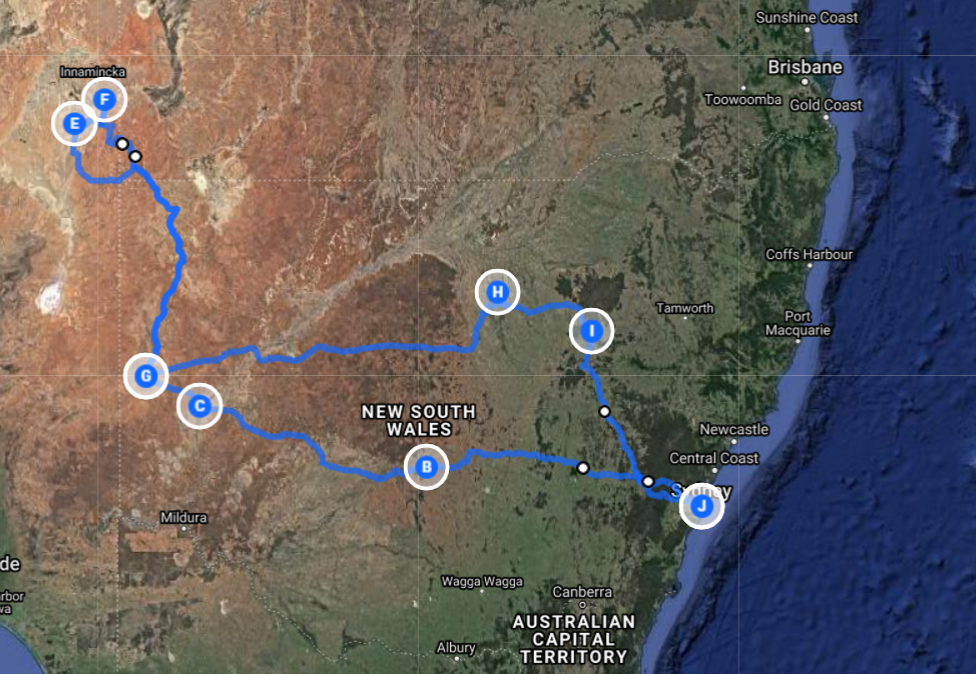 10 Days Cameron Corner Country Macquarie Marshes Menindee Lakes Broken Hill Tibooburra Darling River NSW Outback Tour