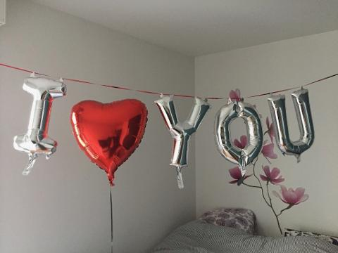 Romantic Message With Small Balloons