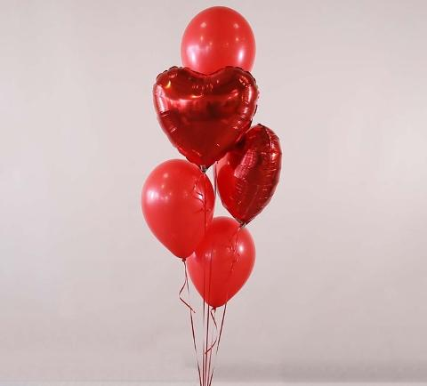 Paris heart balloons bouquet hotel delivery