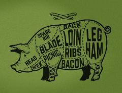 Pig. Smoke. Fire