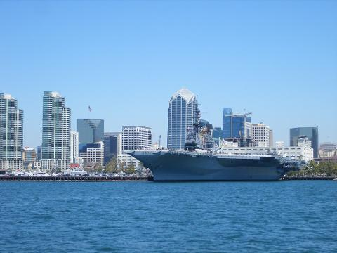Private Walking Tour of Downtown San Diego with Entrance to the USS Midway