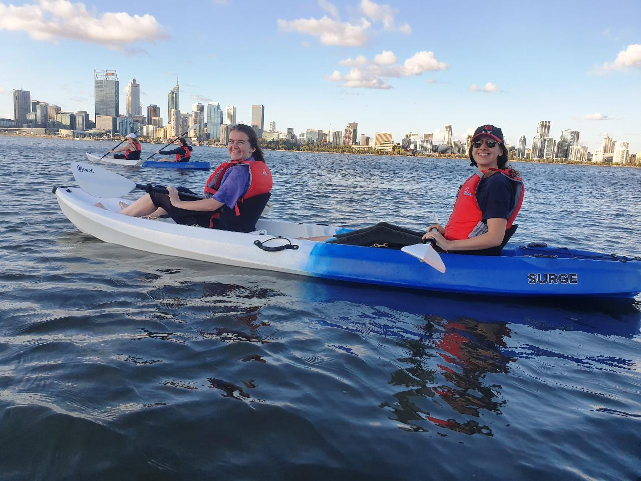 Evening City Lights Kayak Tour with a complimentary wine