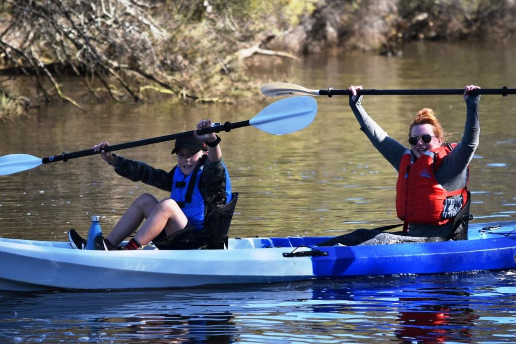 Family School Holiday Canning River Kayak Paddle - Beginners