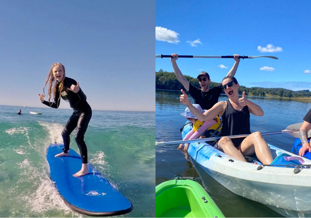 Surf & Kayak = perfect half day tour
