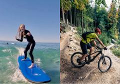 The Full Monty:  Surf, Kayak, eBike