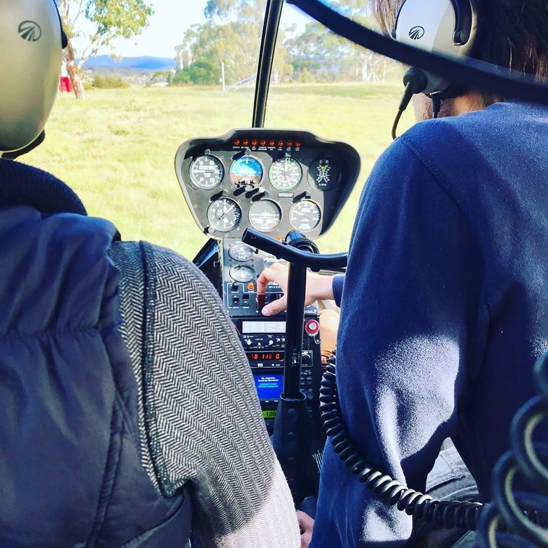 Helicopter Trial Flight R44