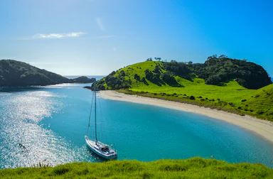 BAY OF ISLANDS - WALKING ON SUNSHINE. Lunch cruise with Island stopover