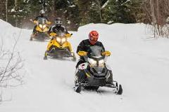 4 Hour Self Guided Snowmobile Tour (double rider)