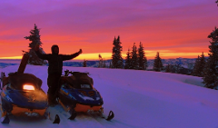 Single Rider Snowmobile: 2 Hour Rental