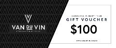 $100 Gift voucher - Van Du Vin | Luxury Canberra winery tours