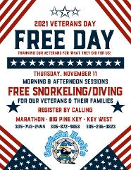 Veterans Day Snorkel & Dive Trip - Key West