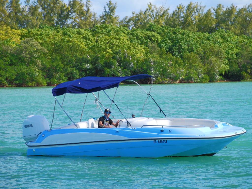 23' Deck Boat w/ 150 HP 4-Stroke (Boat 14)