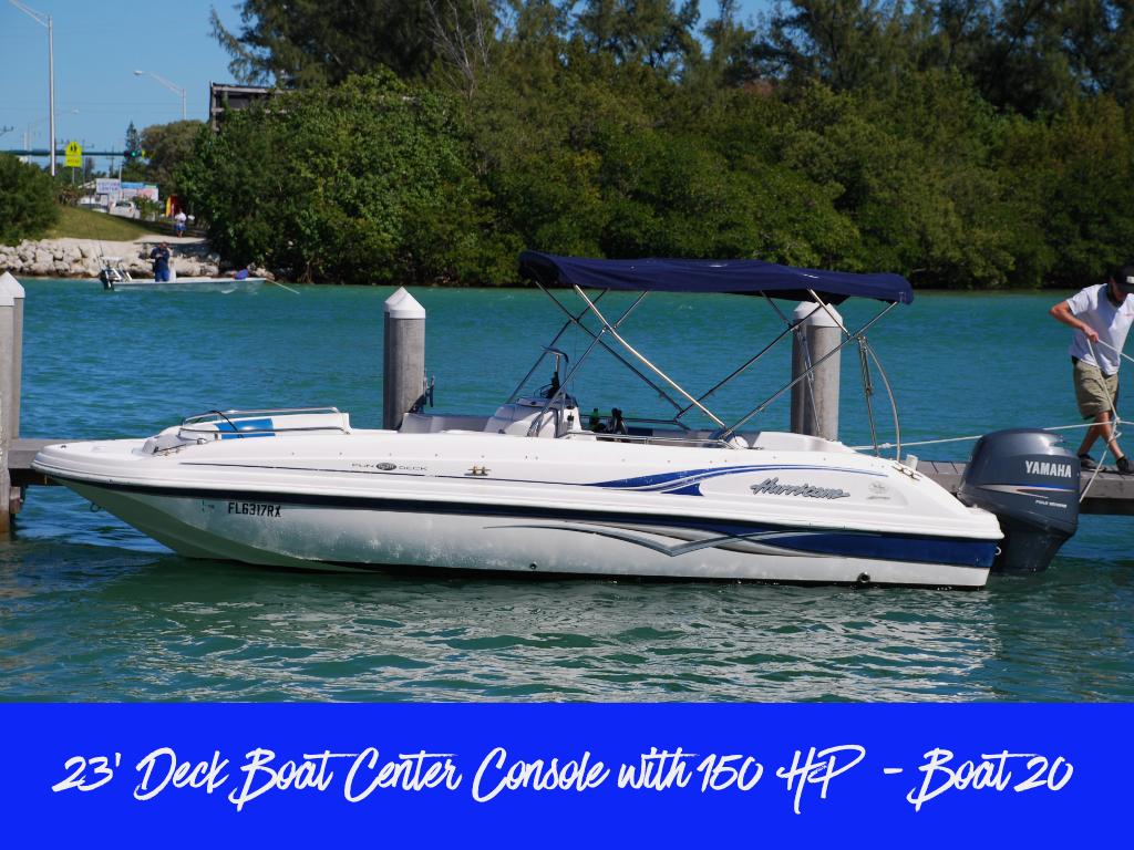 23' Deck Boat w/ 150HP 4-Stroke (Boat 20)