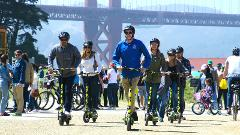 Private Electric Scooter Tour: Golden Gate Bridge and Waterfront 1.5 hours