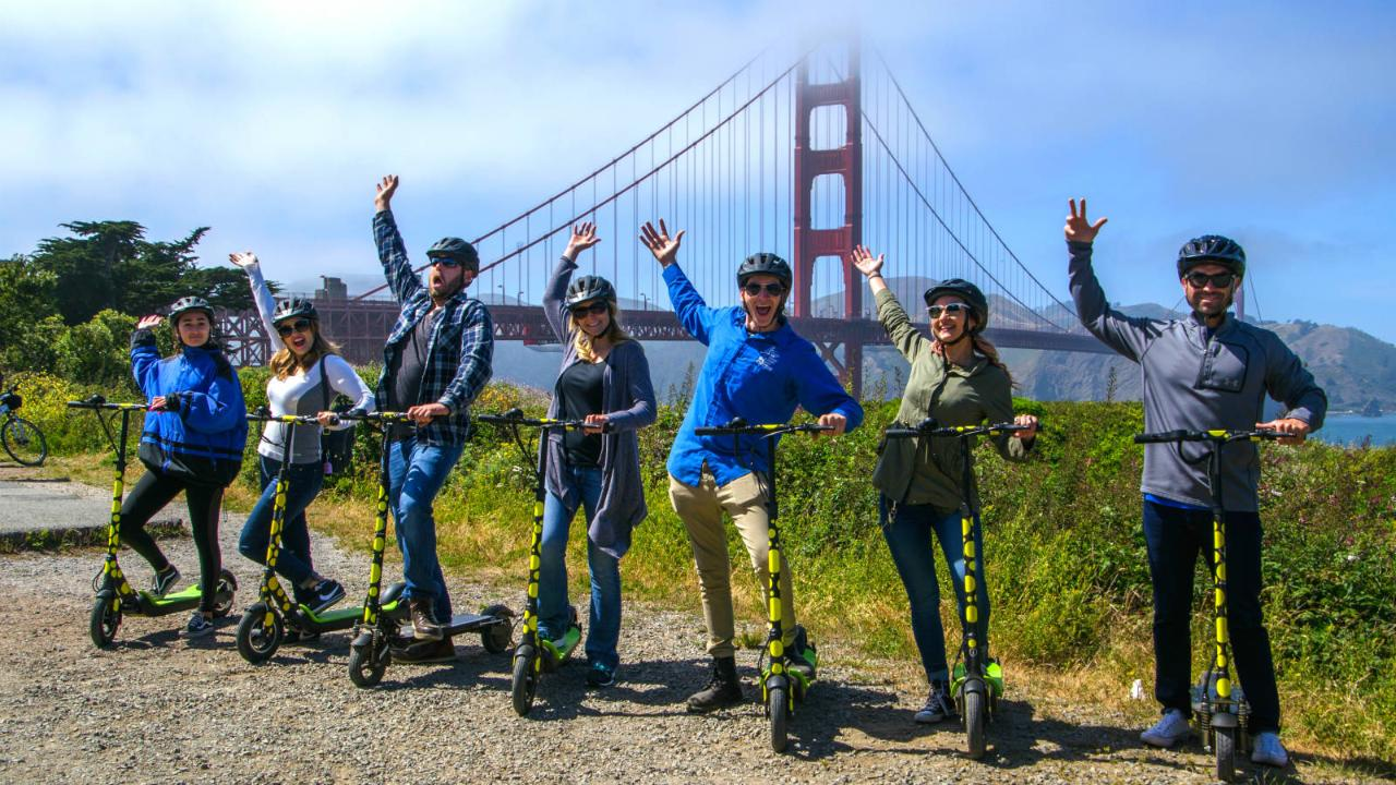 Private Electric Scooter Tour: Golden Gate Bridge and Waterfront 3 hours