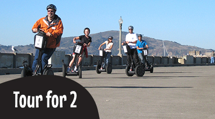 Gift Certificate:  2 Guests Private Segway Tour:  Wharf & Hills of San Francisco or Golden Gate Park