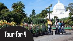 Gift Certificate:  4 Guests Private Segway Tour: Wharf & Hills of San Francisco or Golden Gate Park