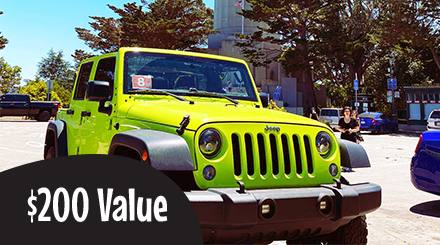 $200.00 Value Gift Certificate Private Jeep Tours