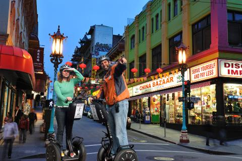 Combo Pack: Night Chinatown and Little Italy Segway Tour  PLUS Advanced Hills and Crooked Street Segway Tour