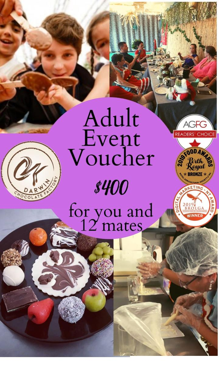 Adult Chocoholic Group Tour (for 13 people) Voucher