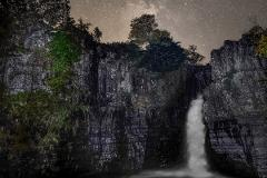 Stargazing  Experience at the Breathtaking High Force Waterfall